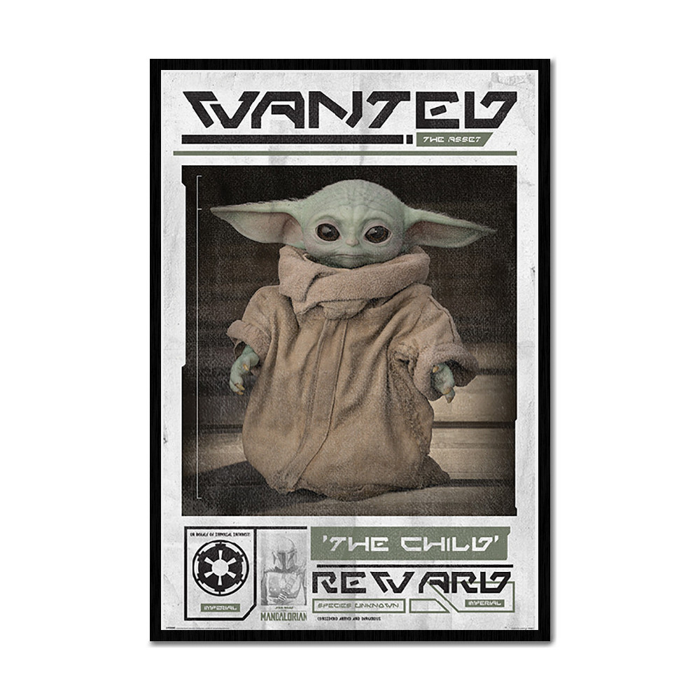 Poster Star Wars Mandalorian Wanted The Child