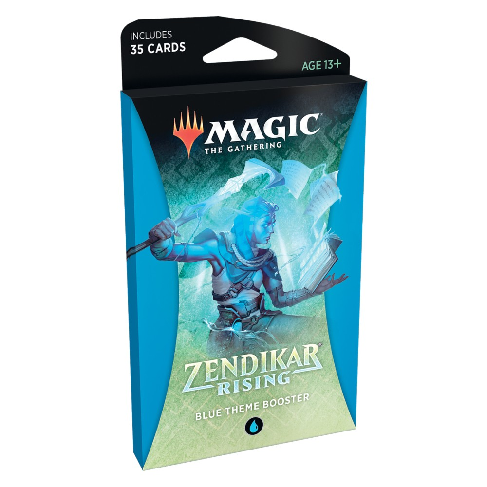 Magic the Gathering Zendikar Rising Theme Booster Blue