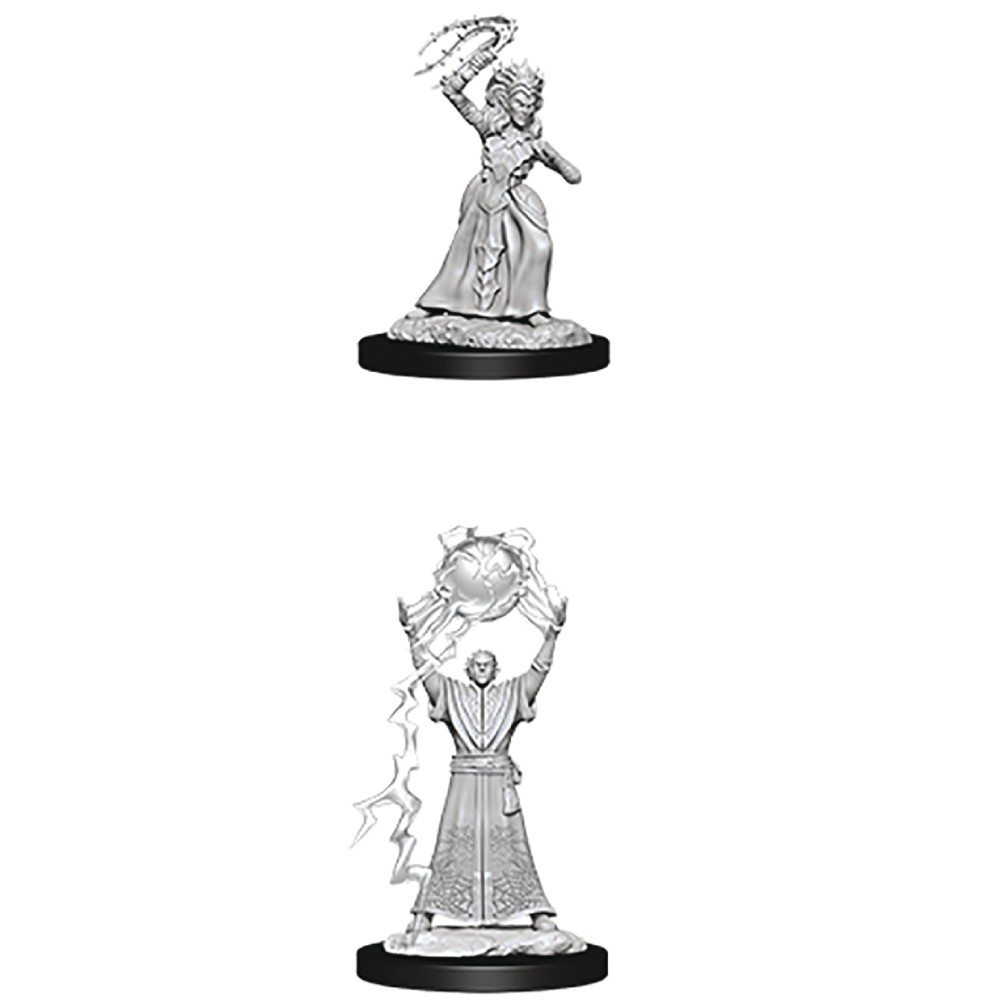 Miniaturi Nepictate D&D Nolzur's Marvelous Drow Mage & Drow Priestess