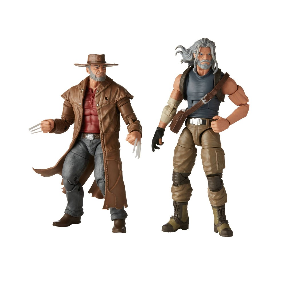 Set 2 Figurine Articulate Marvel Legends 2020 Old Men Logan & Hawkeye 15 cm