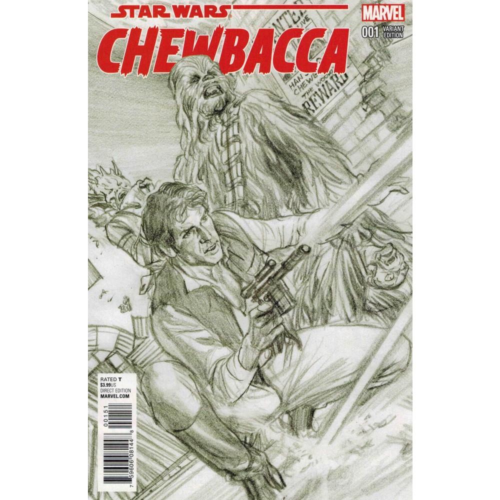 Star Wars Chewbacca 01 Alex Ross Sketch Variant 1:200
