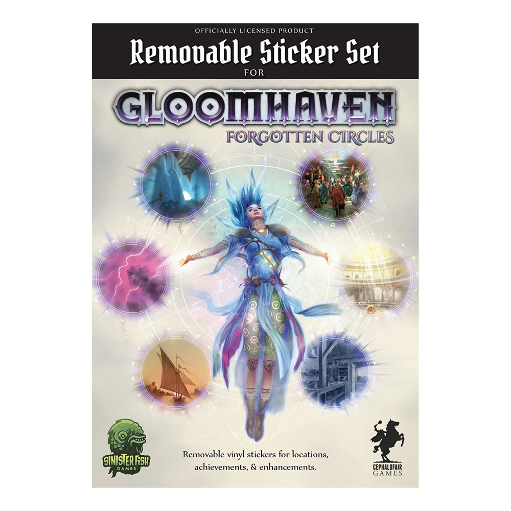 Set Removable Sticker Gloomhaven Forgotten Circles
