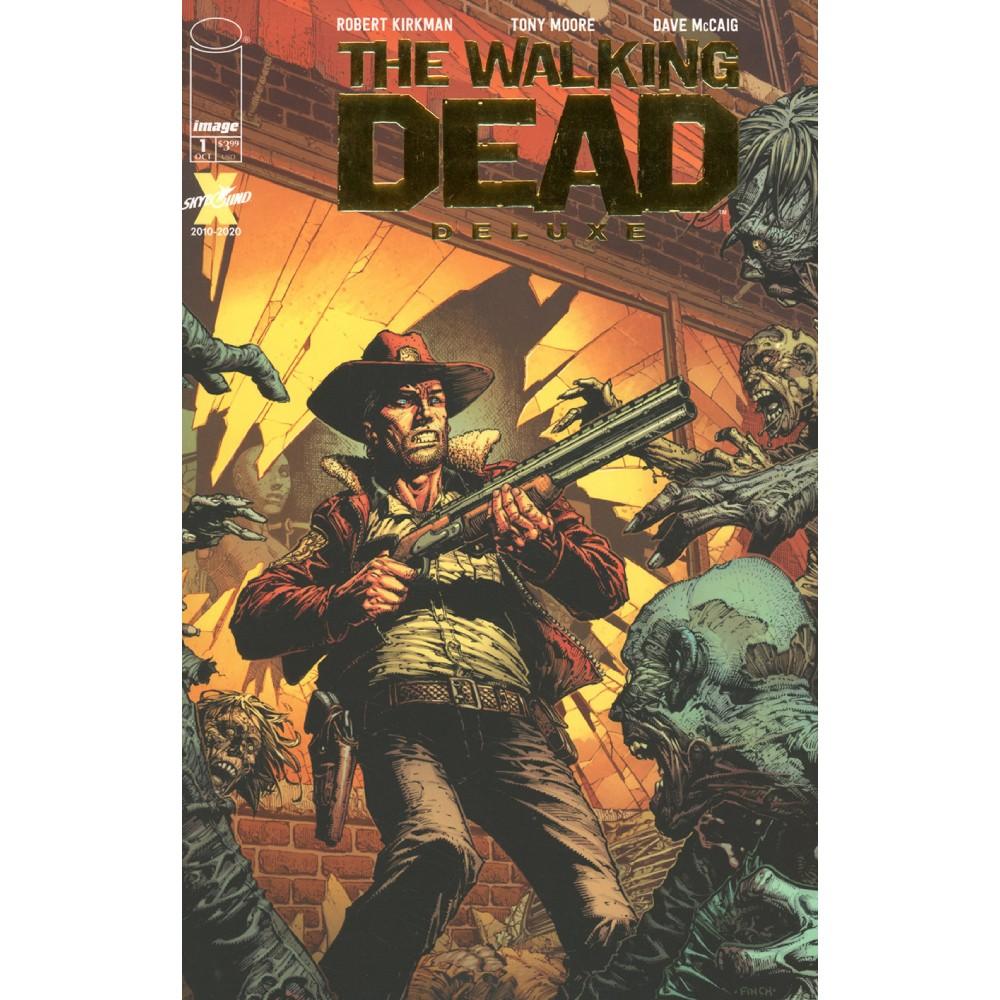 Walking Dead Dlx 01 Finch Gold Foil