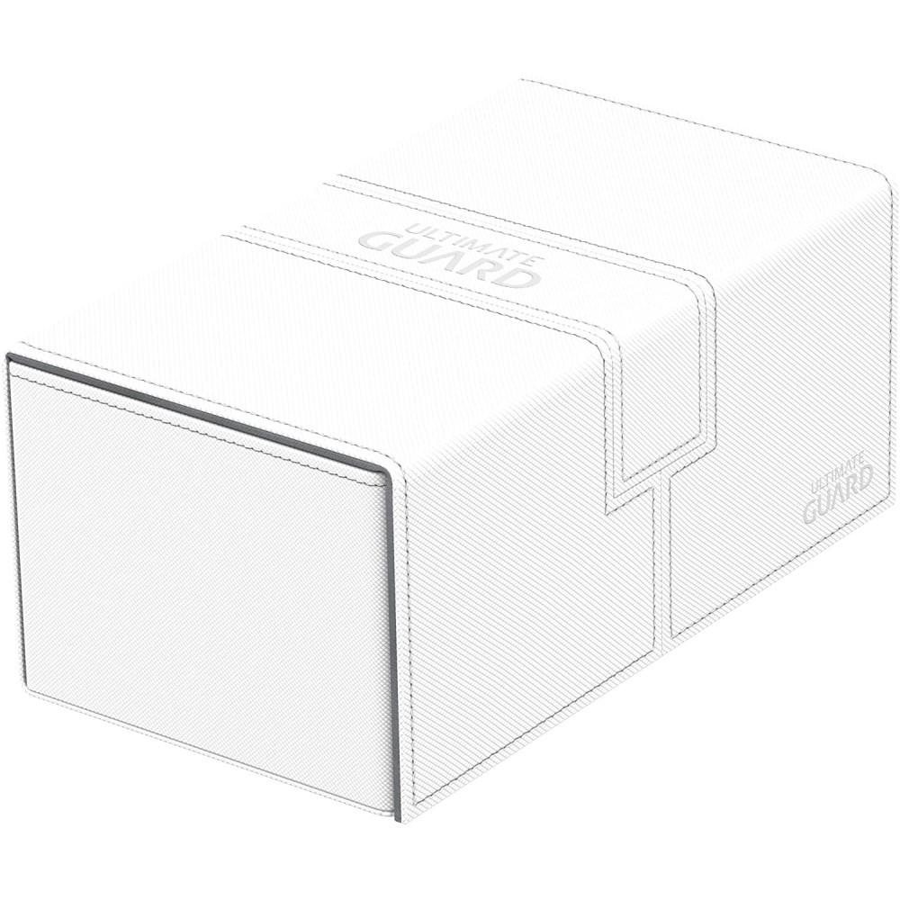Cutie Depozitare Ultimate Guard Twin Flip'n' Tray Deck Case 200+ Standard Size XenoSkin Alb