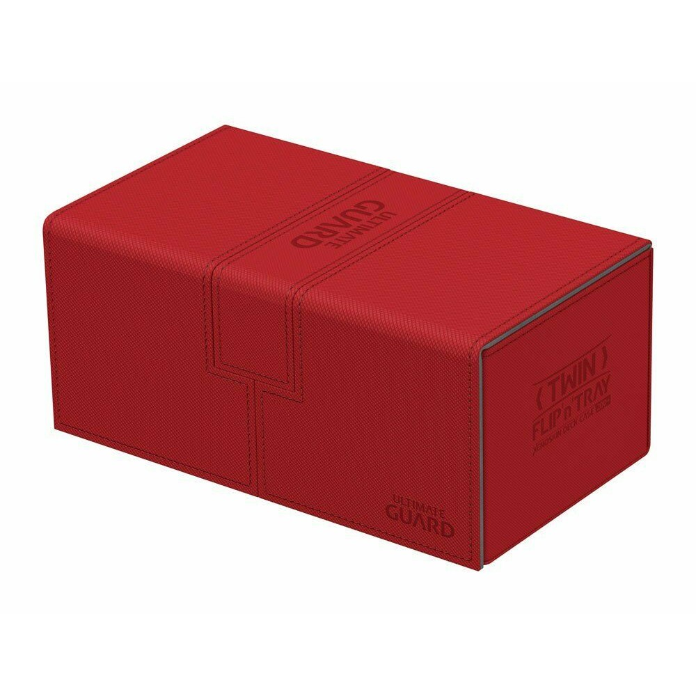 Cutie Depozitare Ultimate Guard Twin Flip'n' Tray Deck Case 200+ Standard Size XenoSkin Rosu