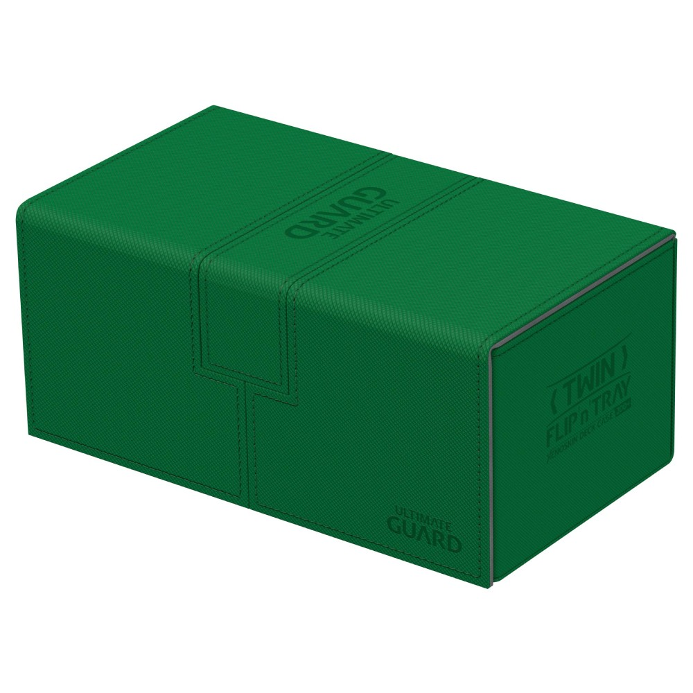 Cutie Depozitare Ultimate Guard Twin Flip'n' Tray Deck Case 200+ Standard Size XenoSkin Verde