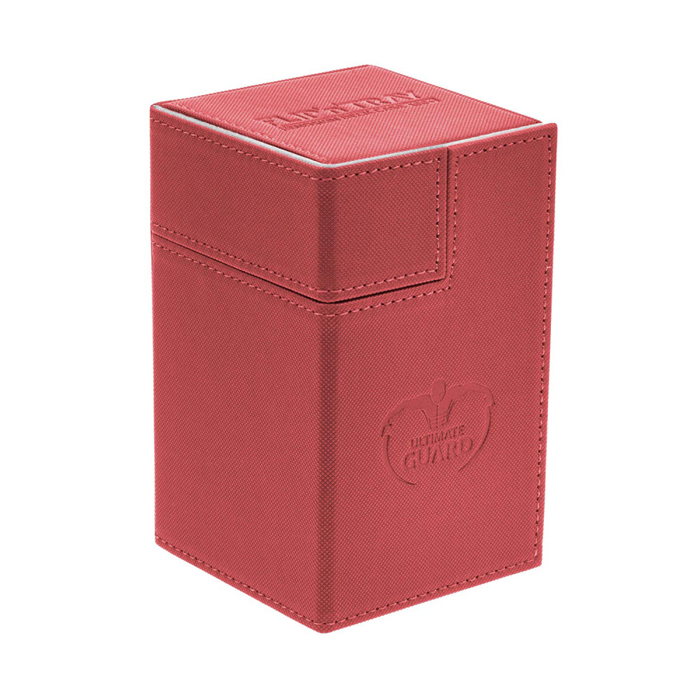 Cutie Depozitare Ultimate Guard Flip'n'Tray Deck Case 100+ Marime Standard XenoSkin Rosu