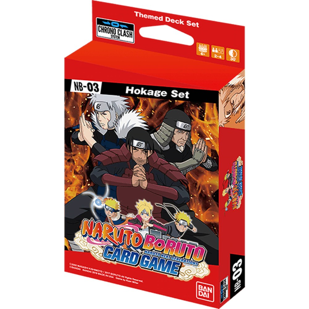 Naruto Boruto Card Game Hokage Set