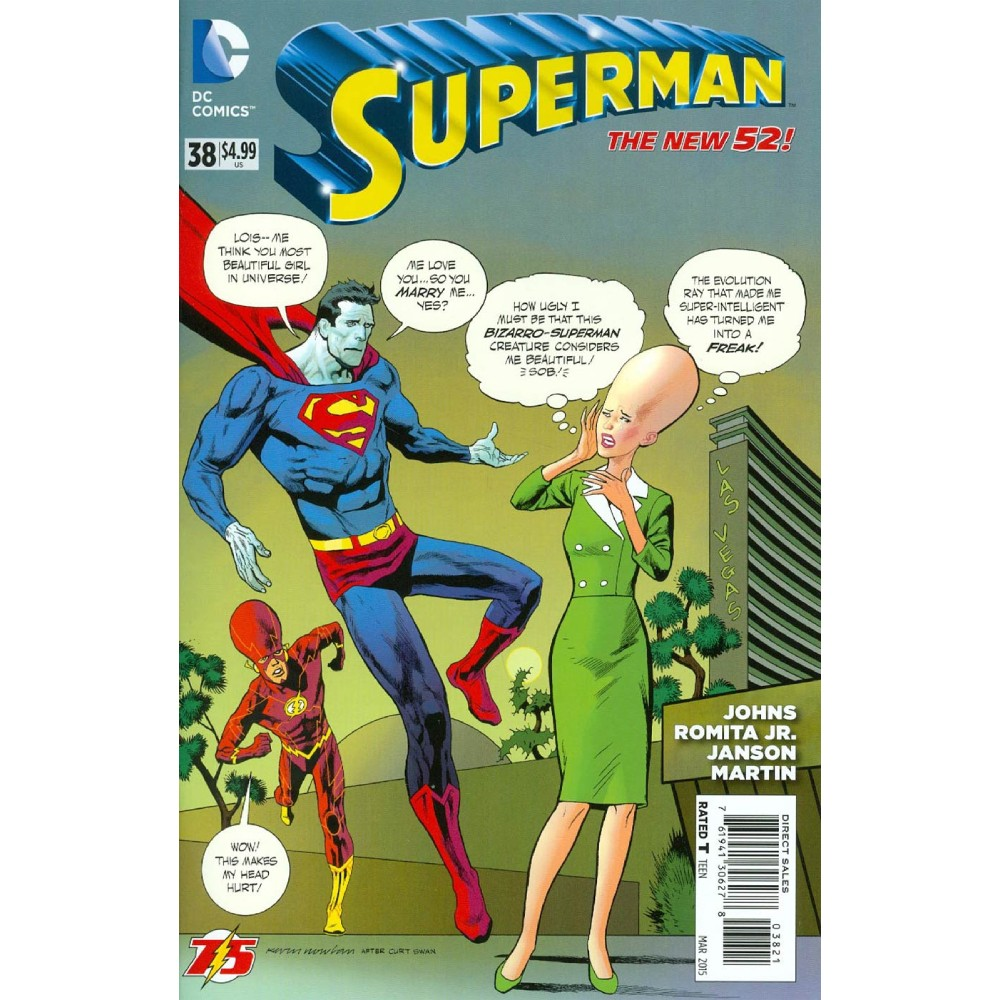 Superman Vol 4 38 Cover B Variant Kevin Nowlan Flash 75th Anniversary Cover