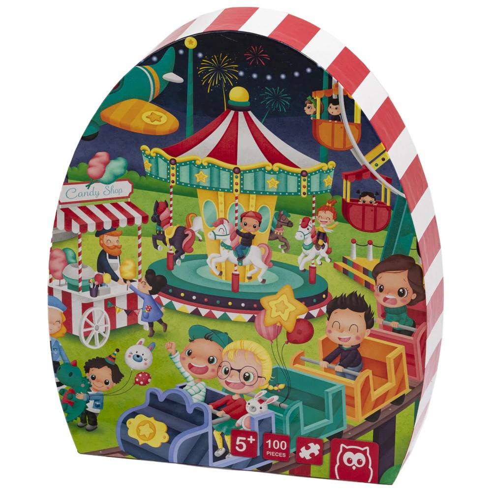 Puzzle Educativ 100 Piese Parcul de Distracție imagine