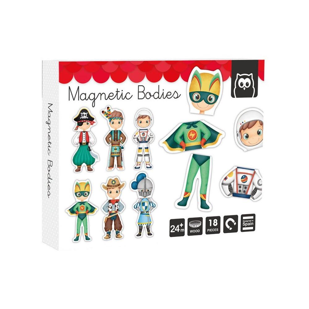 Puzzle Magnetic Educativ din Lemn Eroi de Basm imagine