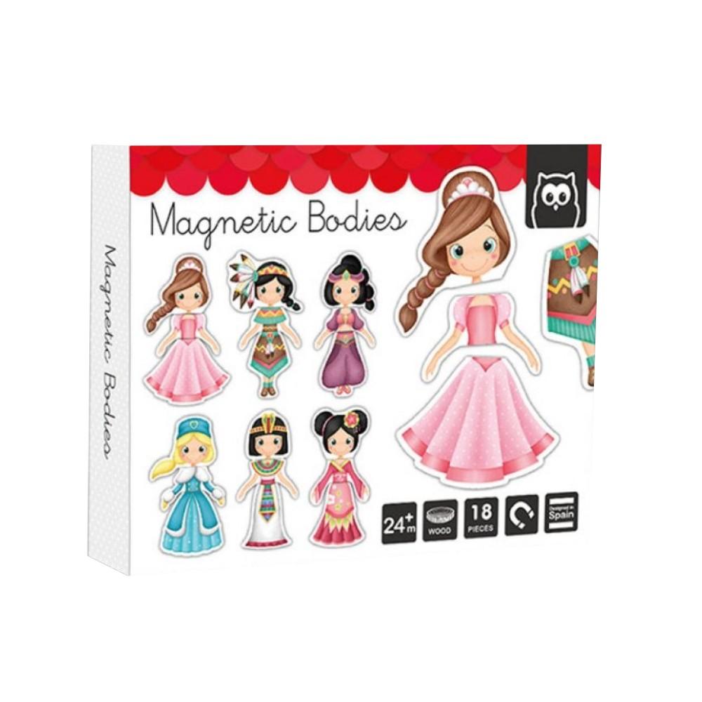 Puzzle Magnetic Educativ din Lemn Printesa imagine