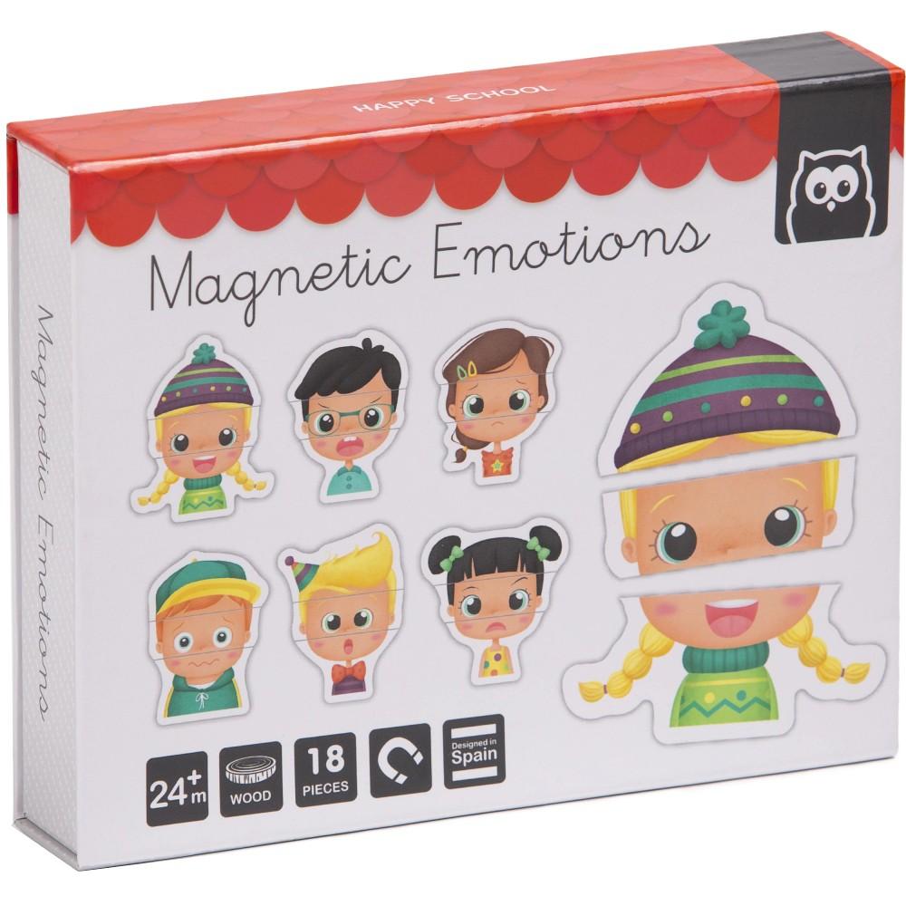 Puzzle Magnetic Educativ din Lemn Emotii imagine
