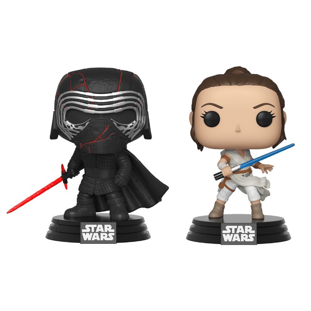 Set 2 Figurine Funko Pop Rise of Skywalker Kylo & Rey (B&N Exclusive)