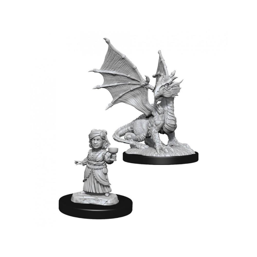 Miniaturi Nepictate D&D Nolzur's Marvelous Silver Dragon Wyrmling & Female (W13)