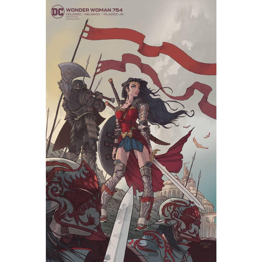 Wonder Woman 754 Card Stock Rafael Grampa var ed