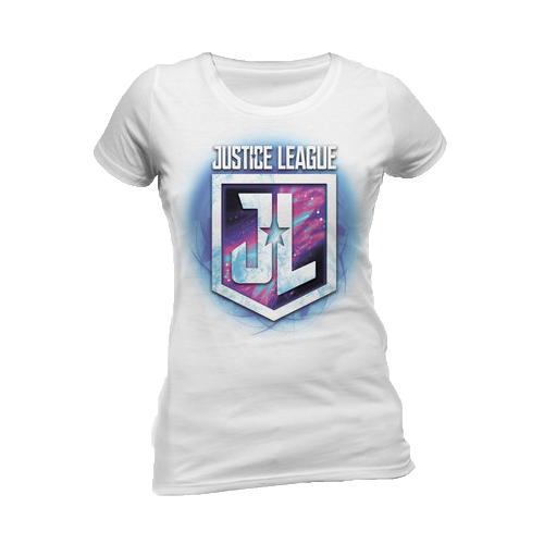 Tricou: Justice League Movie - Purple Shield (Damă)