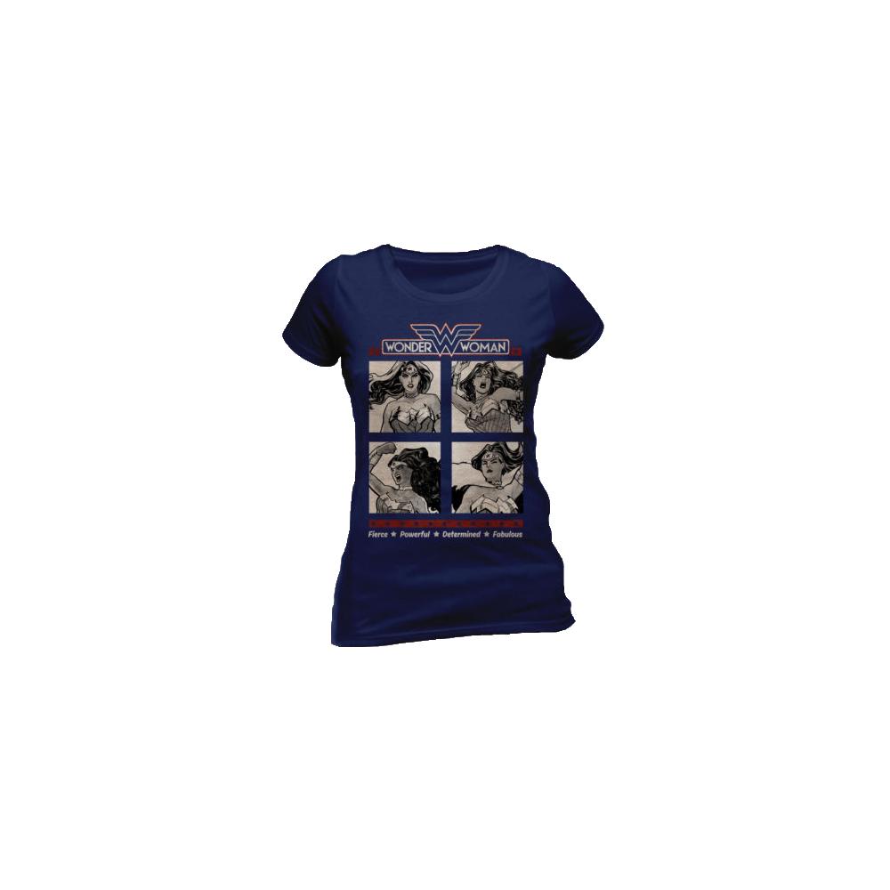 Tricou: Wonder Woman - Retro Squares (Damă)