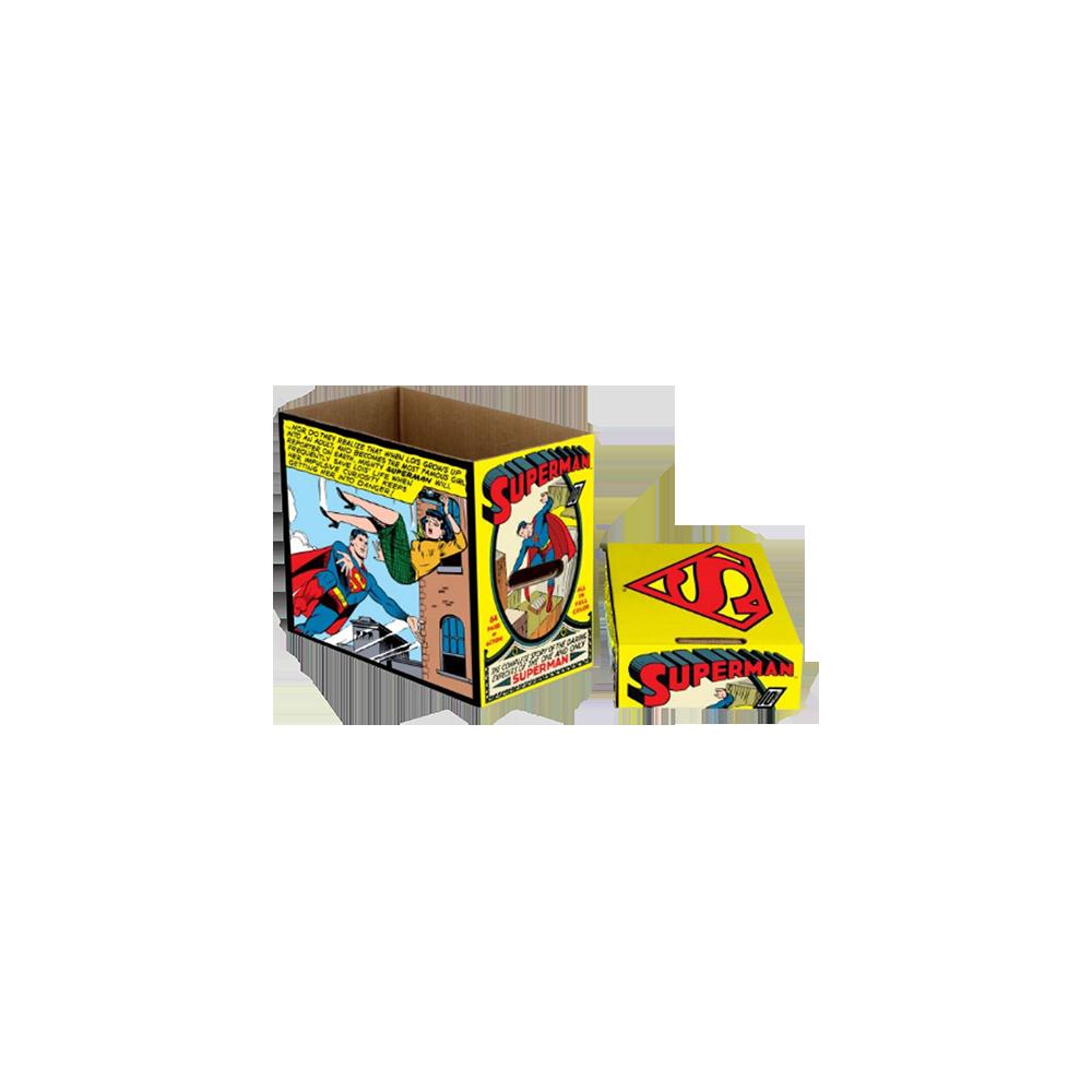 DC Comics Storage Boxes Superman Comic Panel