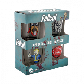 Fallout 4 Shotglass 4-Pack Icons