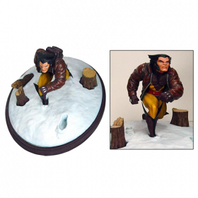 Marvel Premier Wolverine in Snow Statue