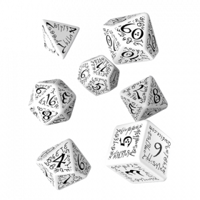 Elvish Dice Set white & black