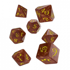 Classic RPG Dice Set caramel & yellow