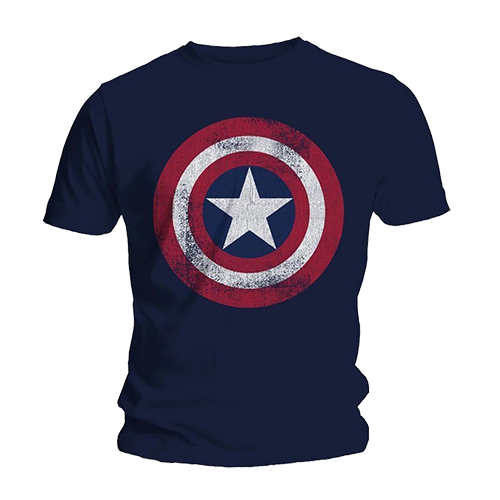 Tricou Captain America - Shield Distressed
