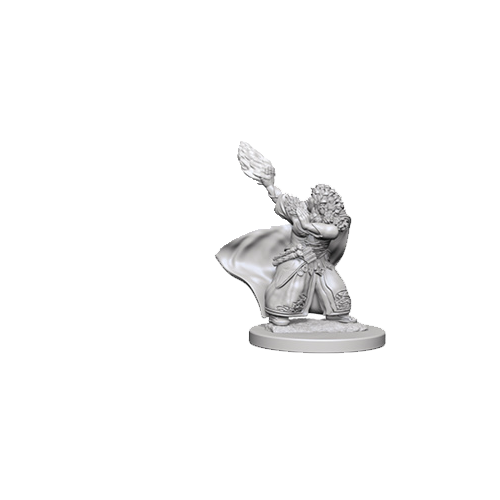 D&D Unpainted Miniatures: Dwarf Female Wizard