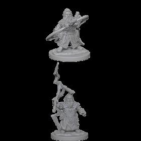 Pathfinder Unpainted Miniatures: Dwarf Male Sorcerer