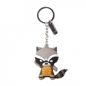 Marvel - Raccoon Character 3D Rubber Keychain