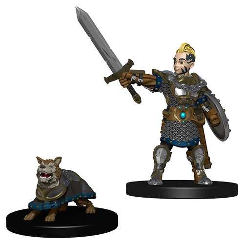 D&D Wardlings: Boy Fighter and Battle Dog