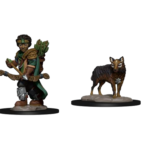 D&D Wardlings: Boy Ranger & Wolf