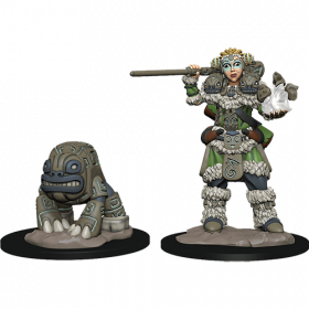 D&D Wardlings: Girl Druid and Stone Creature