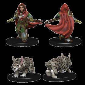 D&D Wardlings: Girl Ranger and Lynx