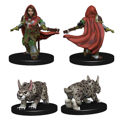 D&D Wardlings: Girl Ranger and Lynx