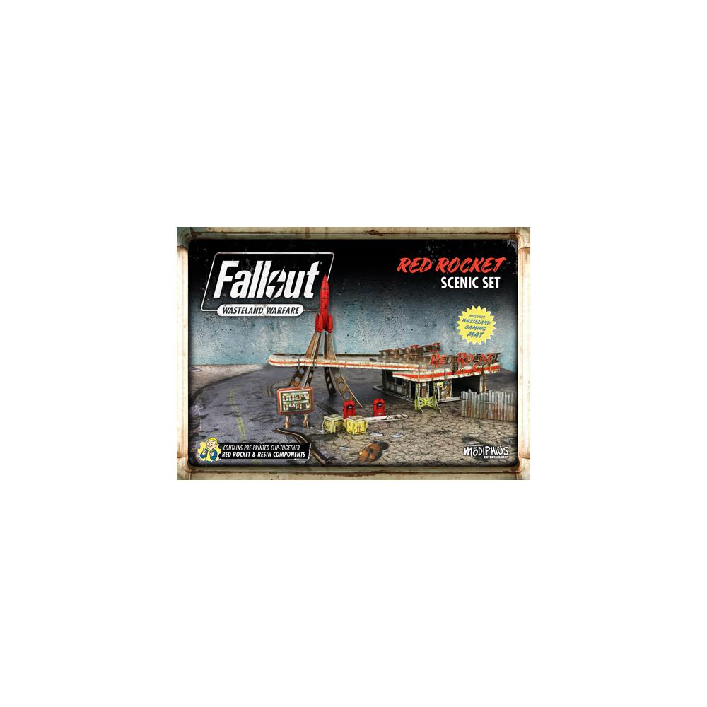 Fallout: Wasteland Warfare - Red Rocket Scenic Set Acc