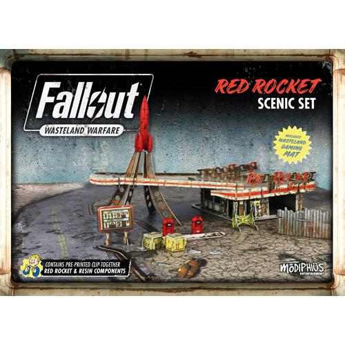 red rocket power armor hanger