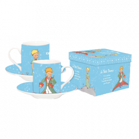 The Little Prince Espresso Mugs Set Light Blue