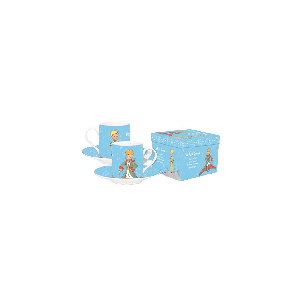 The Little Prince Espresso Mugs Set Light Blue