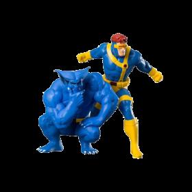 Marvel Cyclops & Beast 2pk Artfx Statue