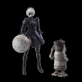 Figurina: Nier Automata Bring Arts 2B & Machine Lifeform