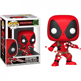 Funko Pop: Marvel: Holiday Deadpool w/ Candy Canes