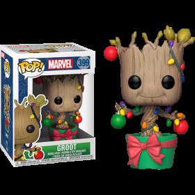 Funko Pop: Marvel: Holiday Groot w/ Lights & Ornaments