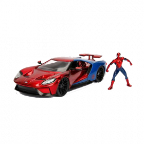 Marvel Diecast Model 1/24 Spider-Man & 2017 Ford GT