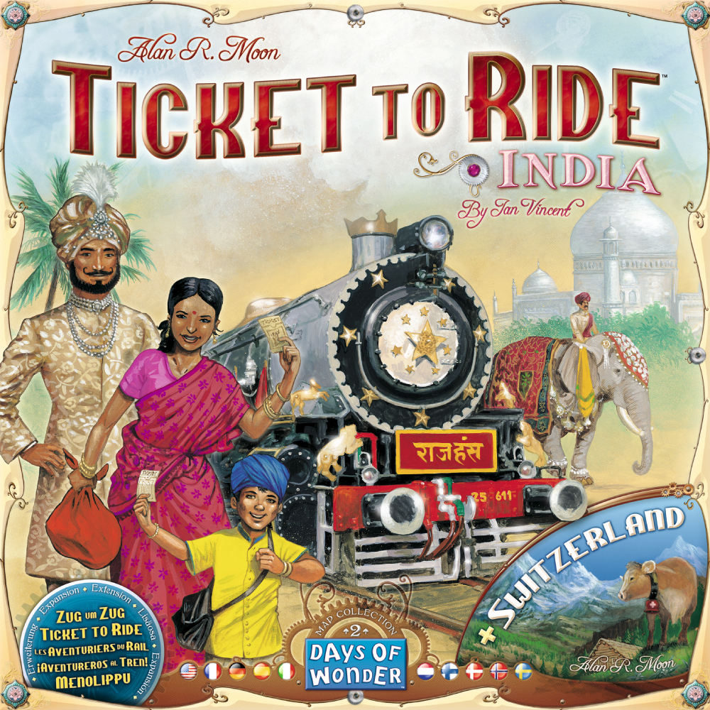 Ticket to Ride Map Collection: Volume 2 – India & Switzerland