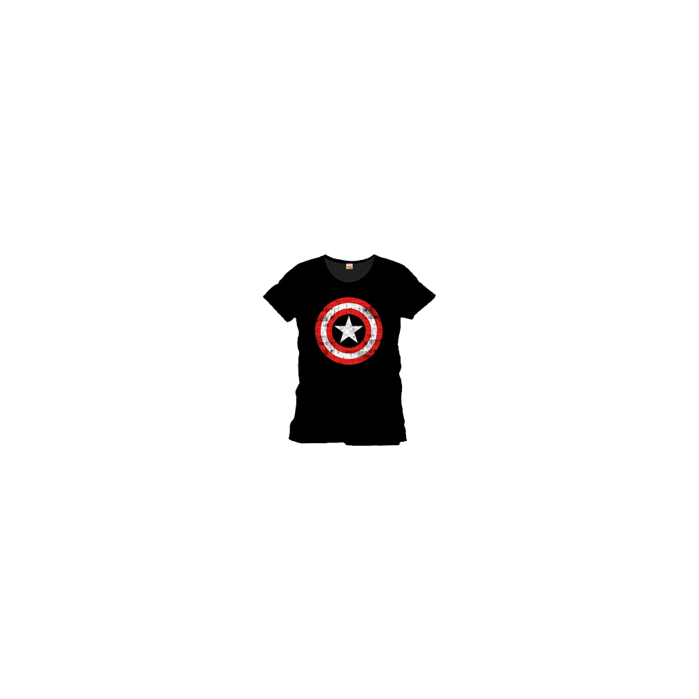 Captain America Shield Logo Black (damă)