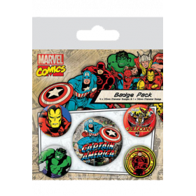 Pin Badges - Captain America
