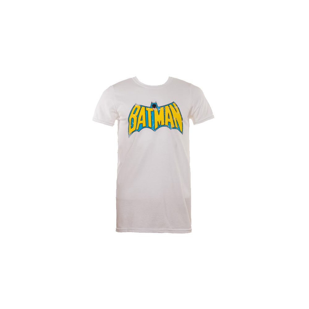 Batman Retro Logo White