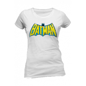Batman Retro Logo White - Fitted